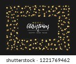 christmas background with... | Shutterstock .eps vector #1221769462