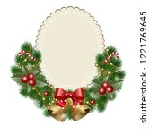 christmas background with... | Shutterstock .eps vector #1221769645