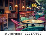 old fashioned cafe terrace | Shutterstock . vector #122177932