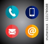 signs symbols mail telephone | Shutterstock .eps vector #1221780688
