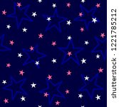 repeated colored stars. cute... | Shutterstock .eps vector #1221785212