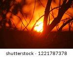 sunset. the departing sun is... | Shutterstock . vector #1221787378