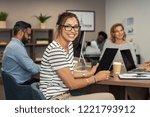 beautiful latin businesswoman... | Shutterstock . vector #1221793912