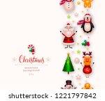 vector christmas background.... | Shutterstock .eps vector #1221797842