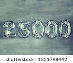 number balloons. inflatable... | Shutterstock . vector #1221798442