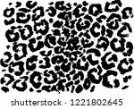 black and white leopard pattern.... | Shutterstock .eps vector #1221802645