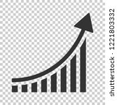 growing bar graph icon in flat... | Shutterstock .eps vector #1221803332