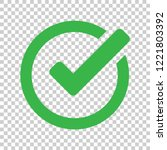 check mark icon in flat style.... | Shutterstock .eps vector #1221803392
