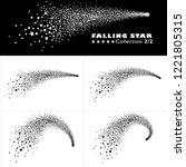 shooting star trail 2d vector... | Shutterstock .eps vector #1221805315