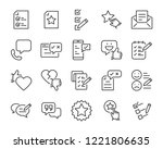 set of feedback line icons ... | Shutterstock .eps vector #1221806635