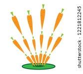 image of fireworks  carrot... | Shutterstock .eps vector #1221812245