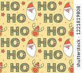 cute lovely christmas seamless...   Shutterstock .eps vector #1221819808