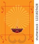 diwali greeting  festival of... | Shutterstock .eps vector #1221825628