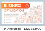 business optimization and... | Shutterstock .eps vector #1221833902