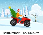 Young Man Riding Atv With...
