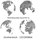 earth globe with world map... | Shutterstock .eps vector #122183866