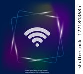 wifi vector neon light icon. wi ...