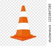 traffic cone. vector... | Shutterstock .eps vector #1221847285