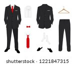 vector illustration. elegant ... | Shutterstock .eps vector #1221847315