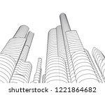 city architecture building 3d    Shutterstock .eps vector #1221864682