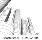 city architecture building 3d    Shutterstock .eps vector #1221864685