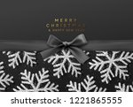 christmas background with... | Shutterstock .eps vector #1221865555
