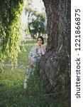 a beautiful portrait of a...   Shutterstock . vector #1221866875