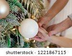 parents hands holding children...   Shutterstock . vector #1221867115