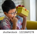 boy are thinking it was in the... | Shutterstock . vector #1221869278