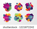 minimal backgrounds set for... | Shutterstock .eps vector #1221872242