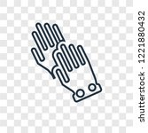 wiping gloves black pair... | Shutterstock .eps vector #1221880432
