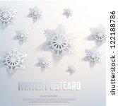 abstract winter postcard.... | Shutterstock .eps vector #122188786