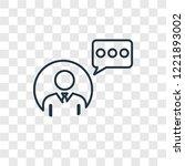 influencer concept vector... | Shutterstock .eps vector #1221893002