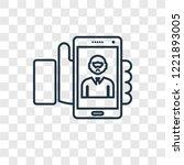 selfie concept vector linear... | Shutterstock .eps vector #1221893005