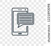 comment concept vector linear... | Shutterstock .eps vector #1221893098
