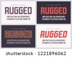 rugged san serif vector font ... | Shutterstock .eps vector #1221896062