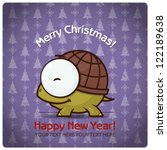 christmas greeting card with... | Shutterstock .eps vector #122189638