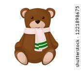 teddy bear cute brown childhood ... | Shutterstock .eps vector #1221898675