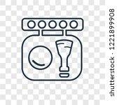 blush concept vector linear... | Shutterstock .eps vector #1221899908