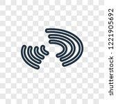 galaxy concept vector linear... | Shutterstock .eps vector #1221905692