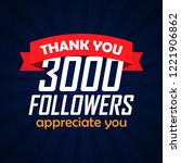 thank you followers... | Shutterstock .eps vector #1221906862