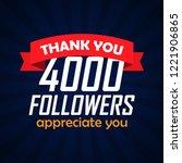 thank you followers... | Shutterstock .eps vector #1221906865