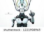 robot artificial intelligence...   Shutterstock .eps vector #1221908965