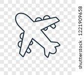 aeroplane concept vector linear ... | Shutterstock .eps vector #1221909658