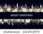 banner with vector christmas... | Shutterstock .eps vector #1221913975