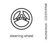 steering wheel icon. trendy...   Shutterstock .eps vector #1221914968