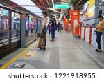 victory monument bts station... | Shutterstock . vector #1221918955
