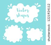 liquid rounded shapes  frames... | Shutterstock .eps vector #1221924112
