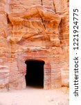 petra  jordan. tombs and... | Shutterstock . vector #1221924775