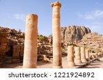 petra  jordan. tombs and... | Shutterstock . vector #1221924892